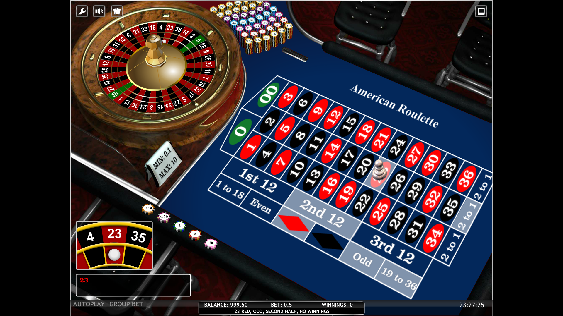 a picture of a roulette table